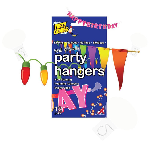 Wall Friendly Party Hangers  Sticky Stuff Hello Party Essentials - Hello Party
