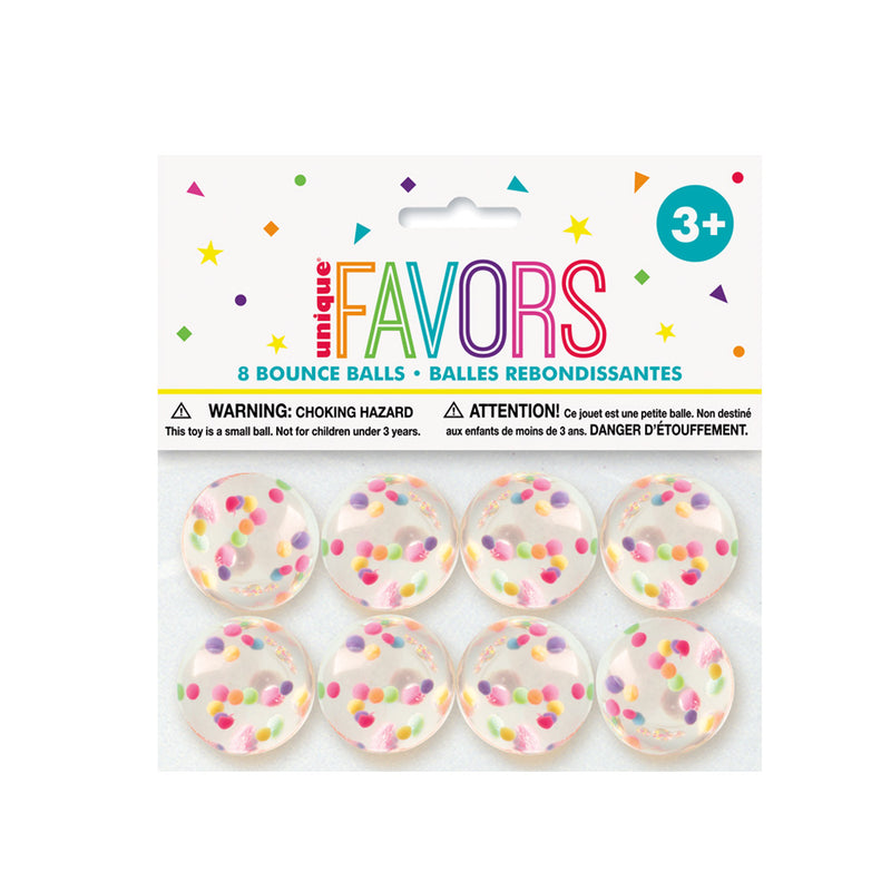 Confetti Filled Bouncy Ball Party Favours 8pk  Party Favours Unique - Hello Party