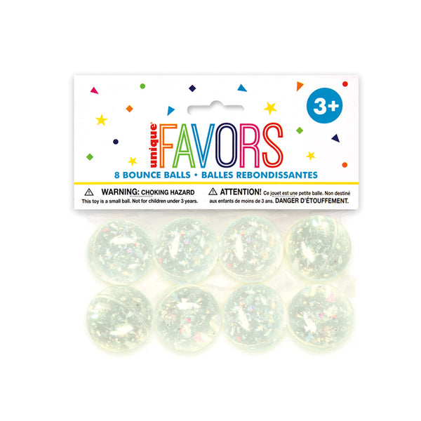 Iridescent Bouncy Ball Party Bag Fillers 8pk