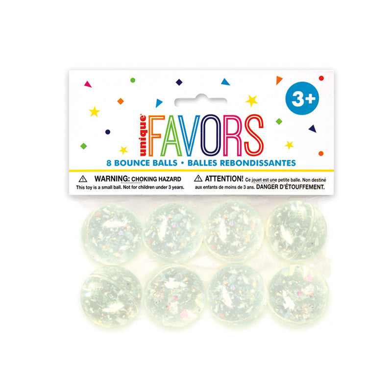 Iridescent Bouncy Ball Party Favours 8pk  Party Favours Unique - Hello Party