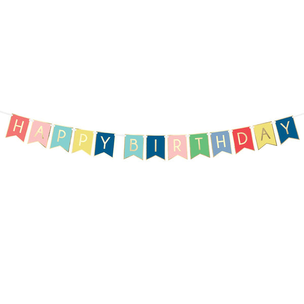 Happy Birthday Flag Banner | Stylish & Fun Party Supplies