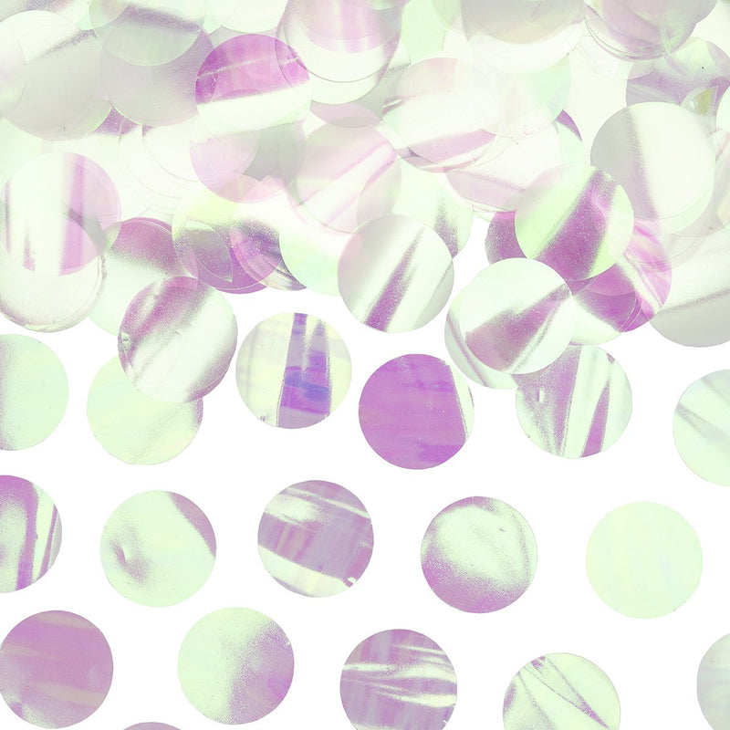 Iridescent Confetti Circles  Confetti Party Deco - Hello Party
