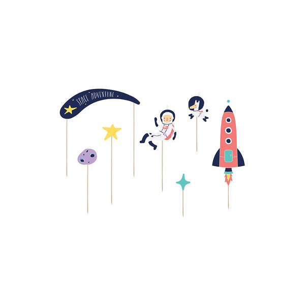 Space Party Cake Toppers | Stylish & Fun Party Supplies