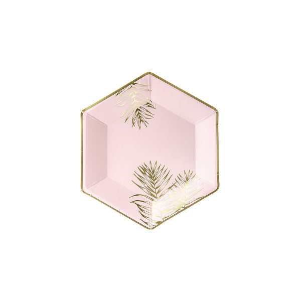 Gold Leaf Pink Plates | Stylish & Fun Party Tableware & Supplies
