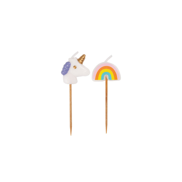 Rainbow & Unicorn Cake Candles
