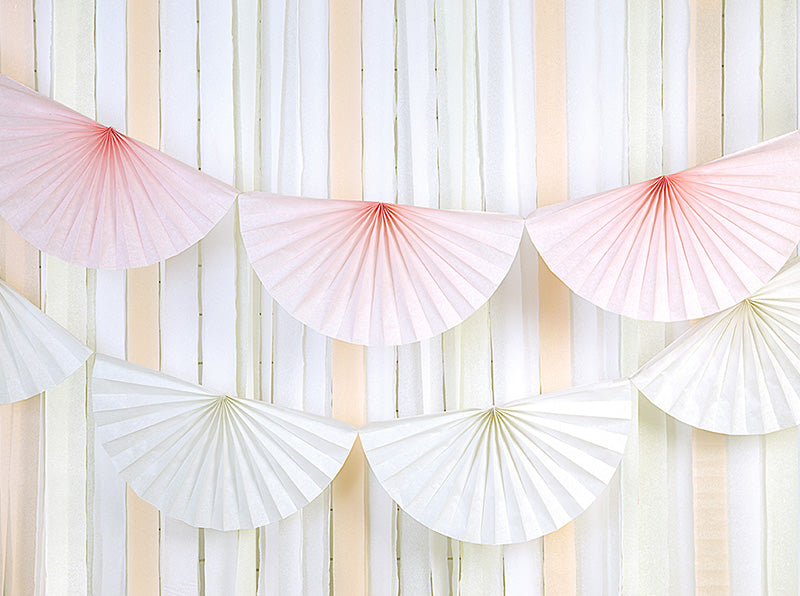 Tissue Fan Garland - Cream