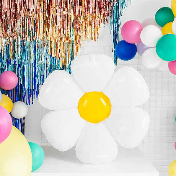 Jumbo Daisy Shaped Foil Balloon