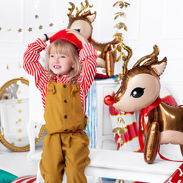 Standing Reindeer Foil Balloon Christmas Party