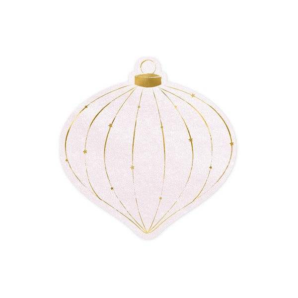 Christmas Bauble Shaped Paper Napkins