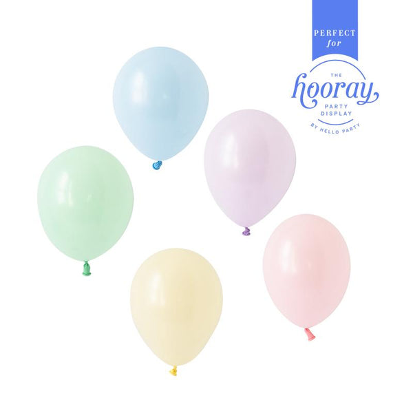 Pastel Perfection Balloons Hooray Party Display Contents Pack for Fillable Cake Stand