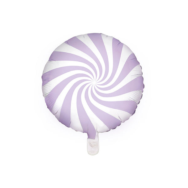 Pastel Lilac Candy Swirl Round Foil Christmas Party Balloon
