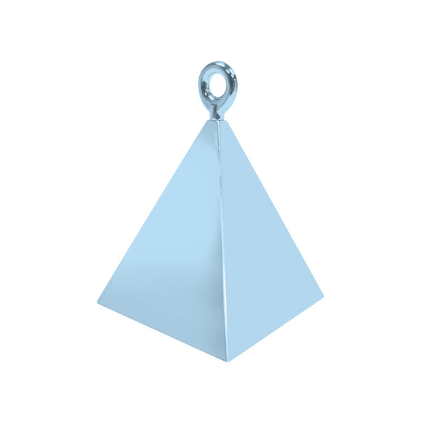 Pearl Light Blue Pyramid Balloon Weight  Balloon Weights Hello Party - All you need to make your party perfect! - Hello Party