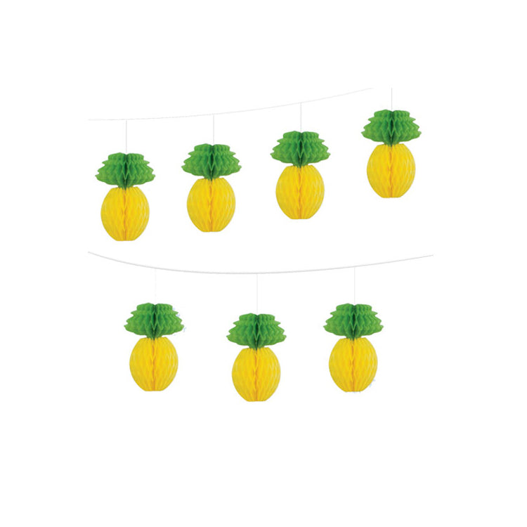 Pineapple Honeycomb Garland  Honeycomb Garland Unique - Hello Party