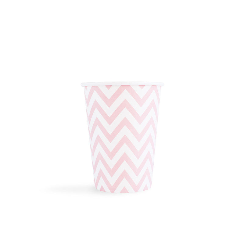Light Pink Chevron Cups  Party Cups Hello Party - All you need to make your party perfect!  - Hello Party