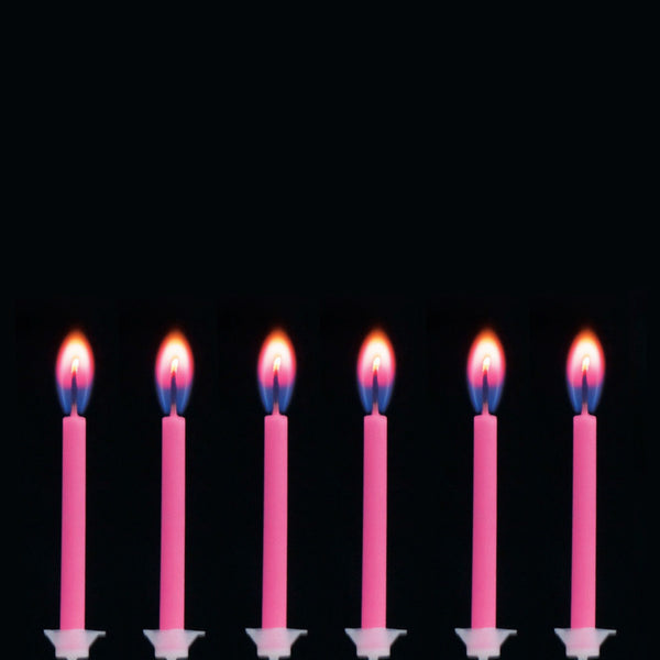 Pink Flame Birthday Candles 12  Party Candles HelloPartyUK - Hello Party