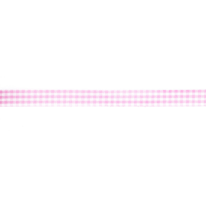 Pastel Pink Gingham Ribbon 20m  Ribbon Hello Party - All you need to make your party perfect!  - Hello Party