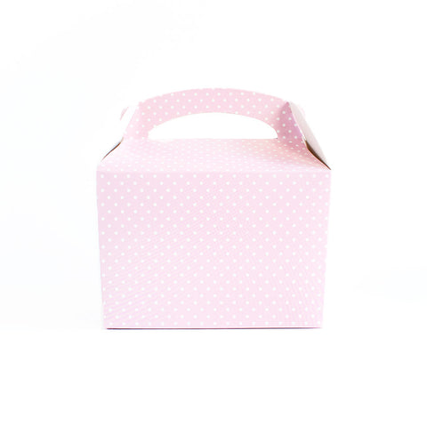 Pink polka dot lunch box