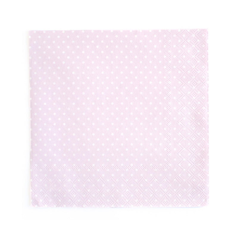 Polka Dot Napkins - Pink - 20  Napkins Neviti - Hello Party