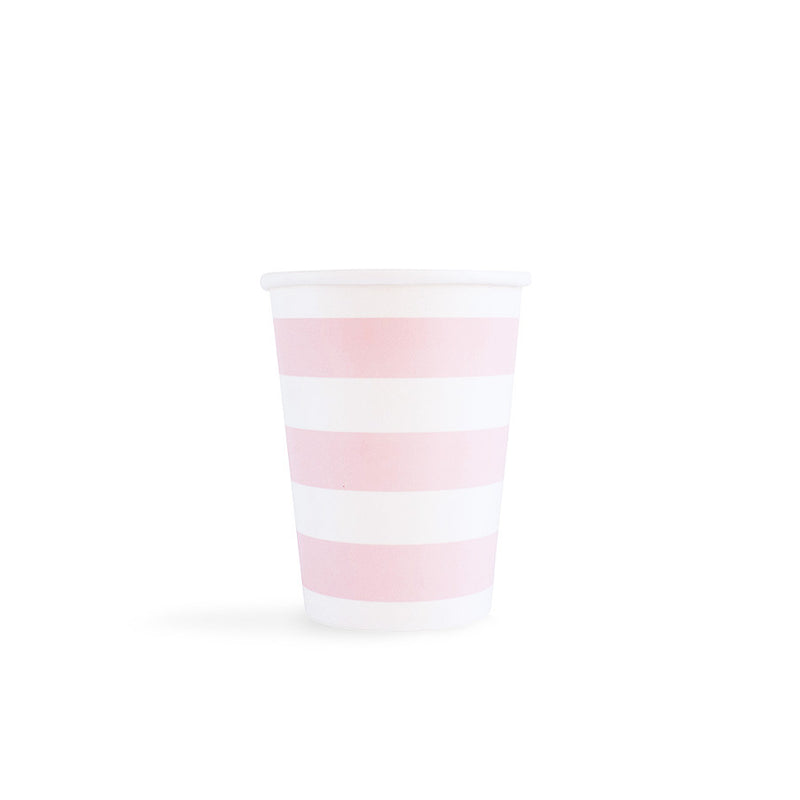 Light Pink Sailor Stripes Cups  Party Cups Hello Party - All you need to make your party perfect!  - Hello Party