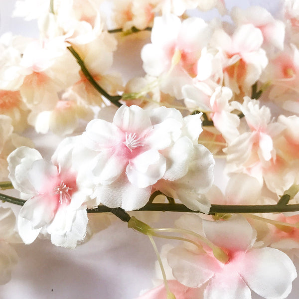 Peachy Pink Blossom Floral Garland Balloon Tail