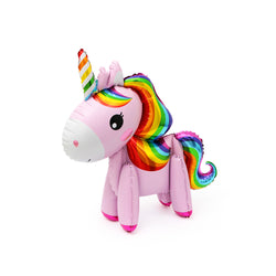 Standing Magical Rainbow Unicorn Foil Party Balloon