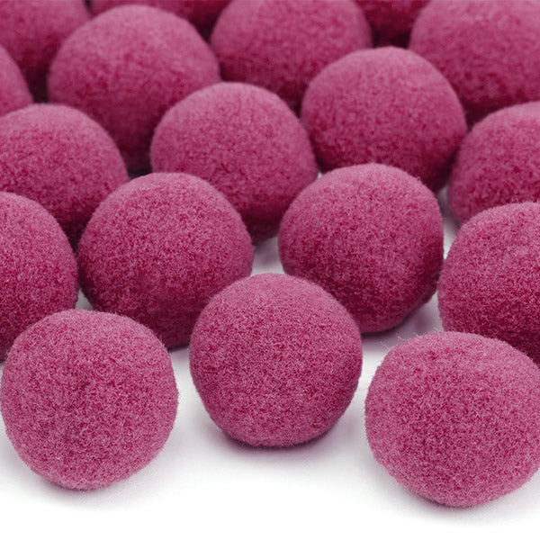 Plush Pom Poms 2cm (Pack of 20)