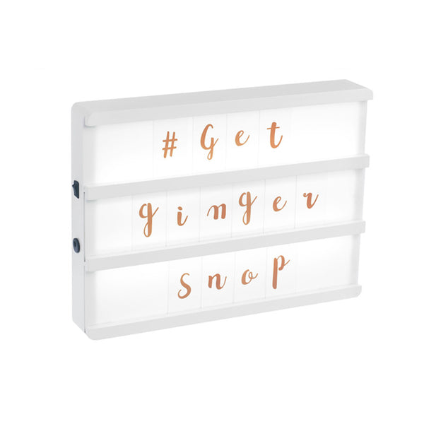 Rose Gold Letter Pack for our A4 Lightboxes  Lights Ginger Snap - Hello Party