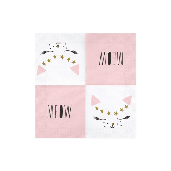 Pretty Party Cat Napkins Open