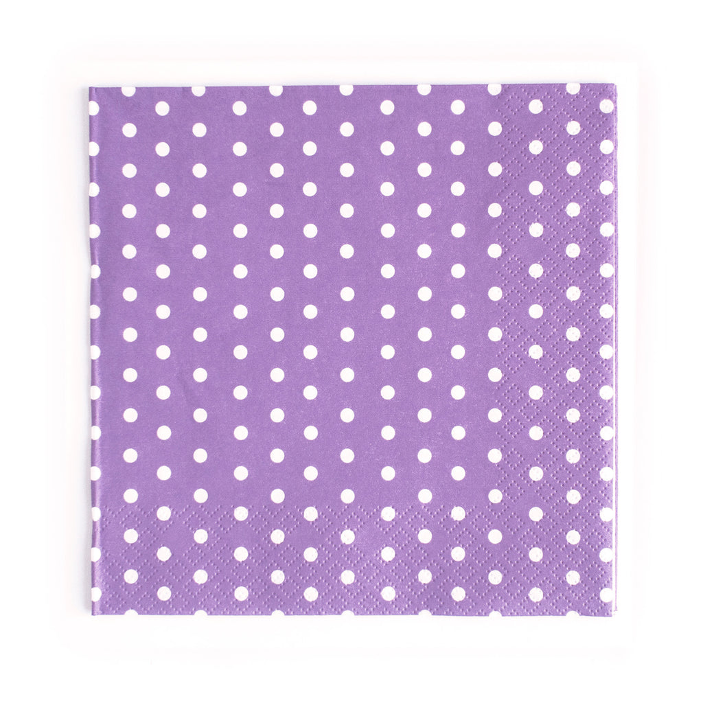 Carnival - Napkins - Dots Purple- 20 - Hello Party - All you need to make your party perfect!