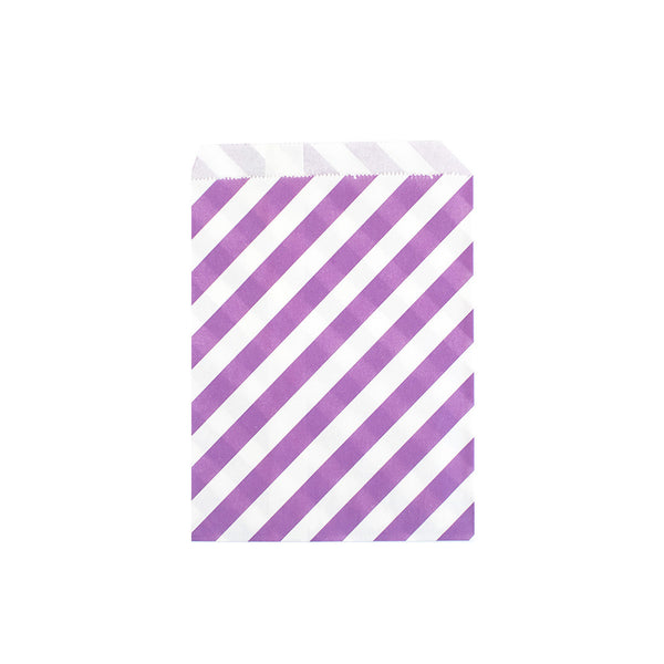 Purple striped treat bags  Party Bags Neviti - Hello Party