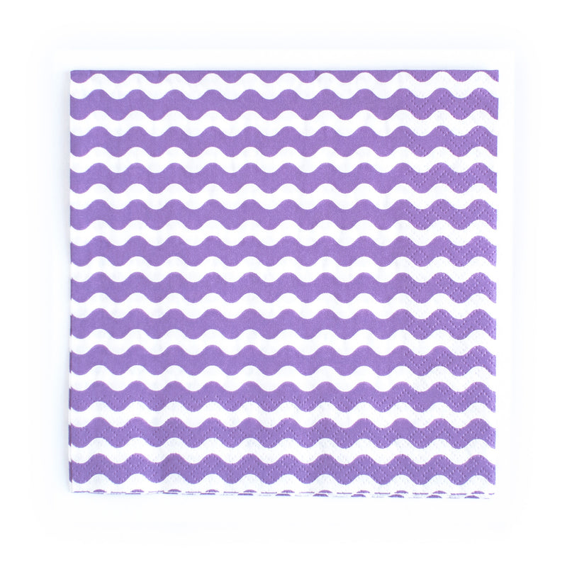 Purple wavy Napkins  Napkins Neviti - Hello Party