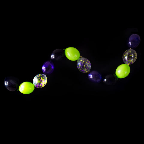 Purple, Slime Green and Black Halloween Linkit Balloon Garland Kit