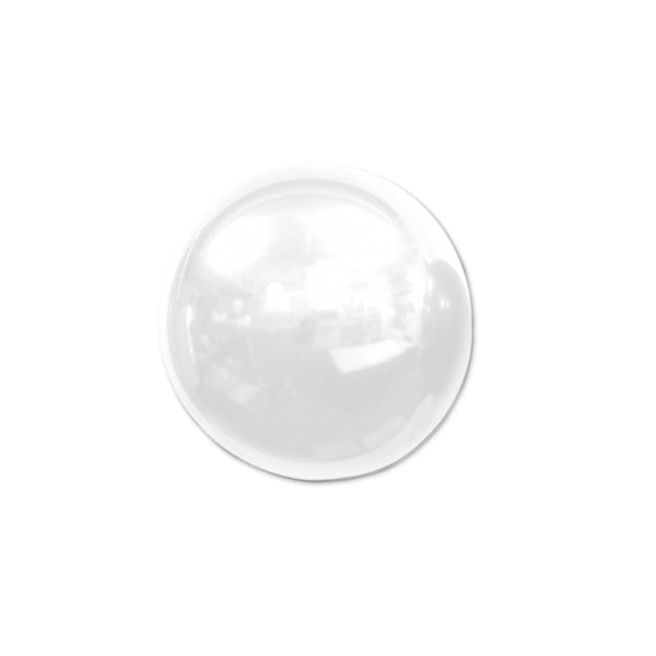 "Mini White Mirror Orb Balloon (7"")"
