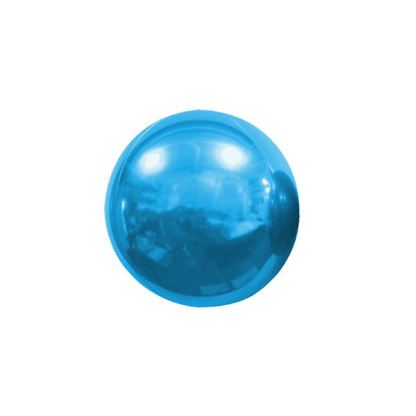 "Mini Blue Mirror Orb Balloon (7"")  mini orb balloon Hello Party Essentials - Hello Party"