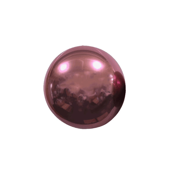 "Mini Pink Mirror Orb Balloon (7"")"