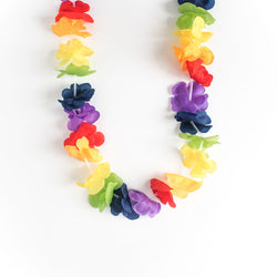 Hawaiian Rainbow Flower Lei  Fancy Dress Hello Party - All you need to make your party perfect!  - Hello Party