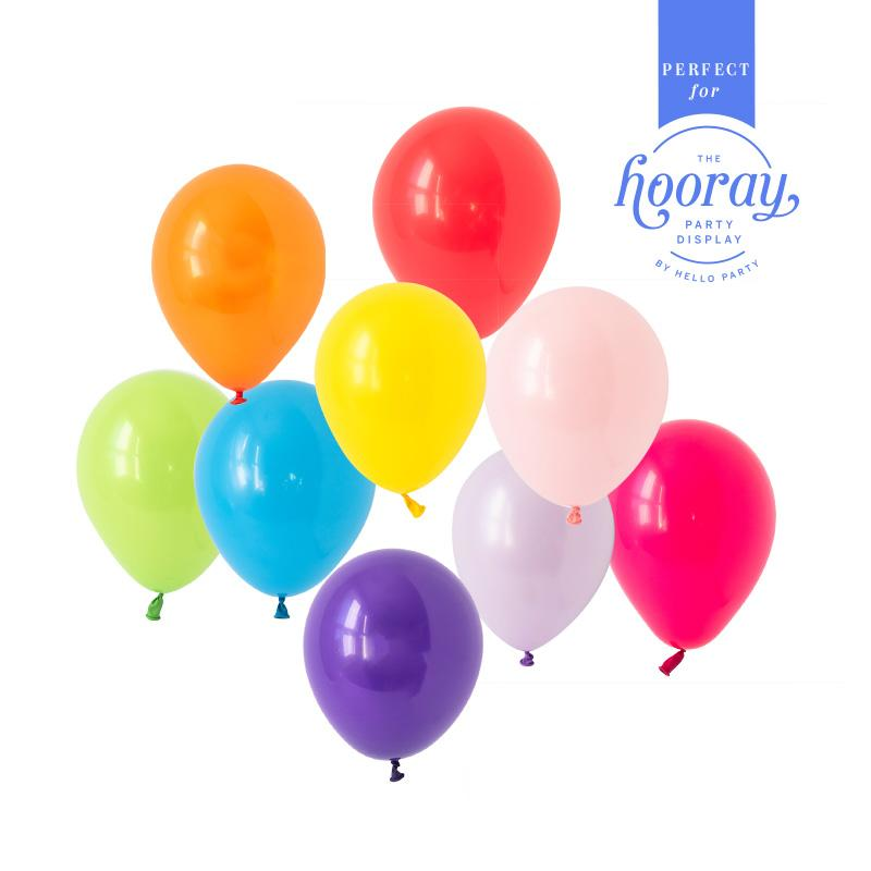 Rainbow Bright Balloons Hooray Party Display Contents Pack