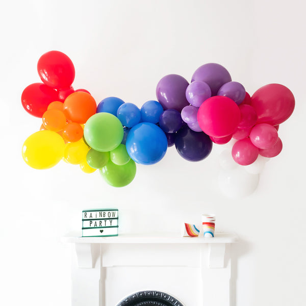 Rainbow Bright Balloon Cloud Garland Kit