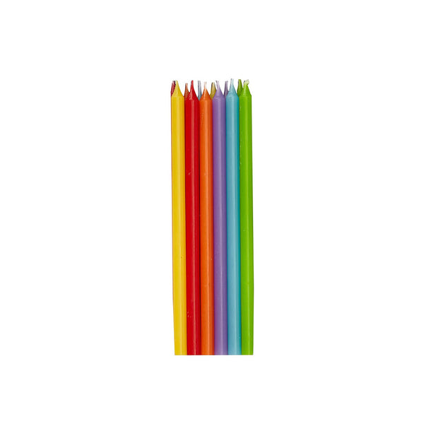 Tall Rainbow Party Cake Candles