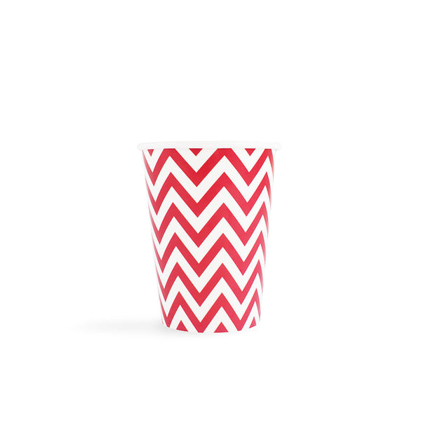 Red Chevron Cups  Party Cups Hello Party - All you need to make your party perfect!  - Hello Party