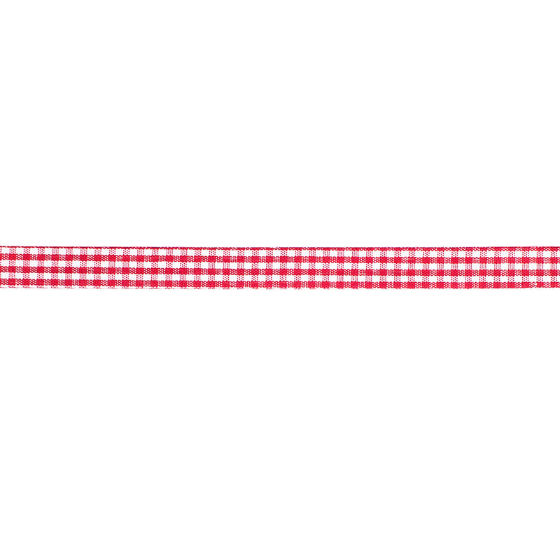 Red Gingham Ribbon 20m  Ribbon Hello Party - All you need to make your party perfect!  - Hello Party