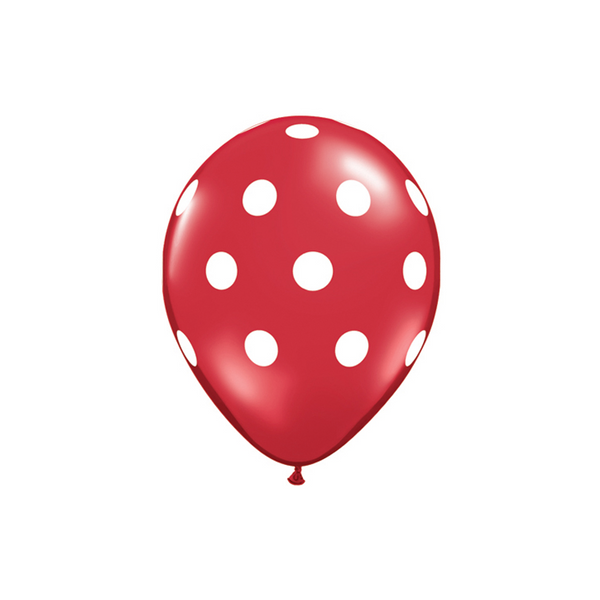 Red Polka Dot Balloons  Printed Latex Balloons Hello Party Essentials - Hello Party