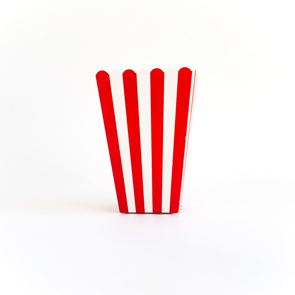 Red striped popcorn box