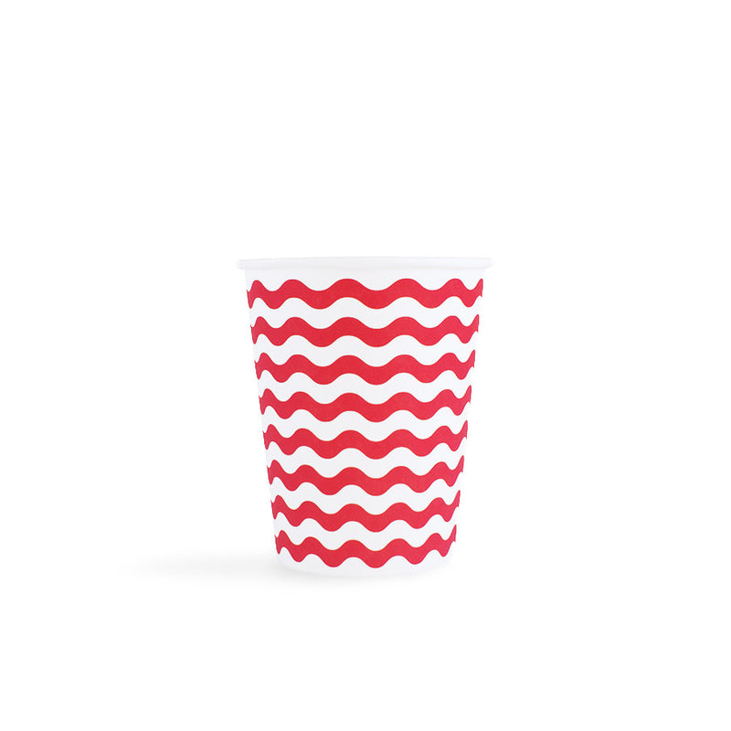 red wavy cups  Party Cups Neviti - Hello Party
