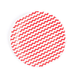 Red Wavy Paper Plates  Party Plates Neviti - Hello Party