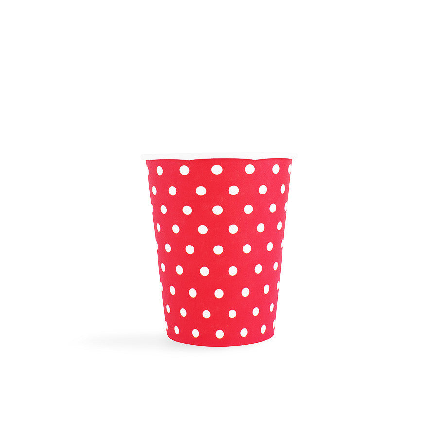 Red with white spots Cups