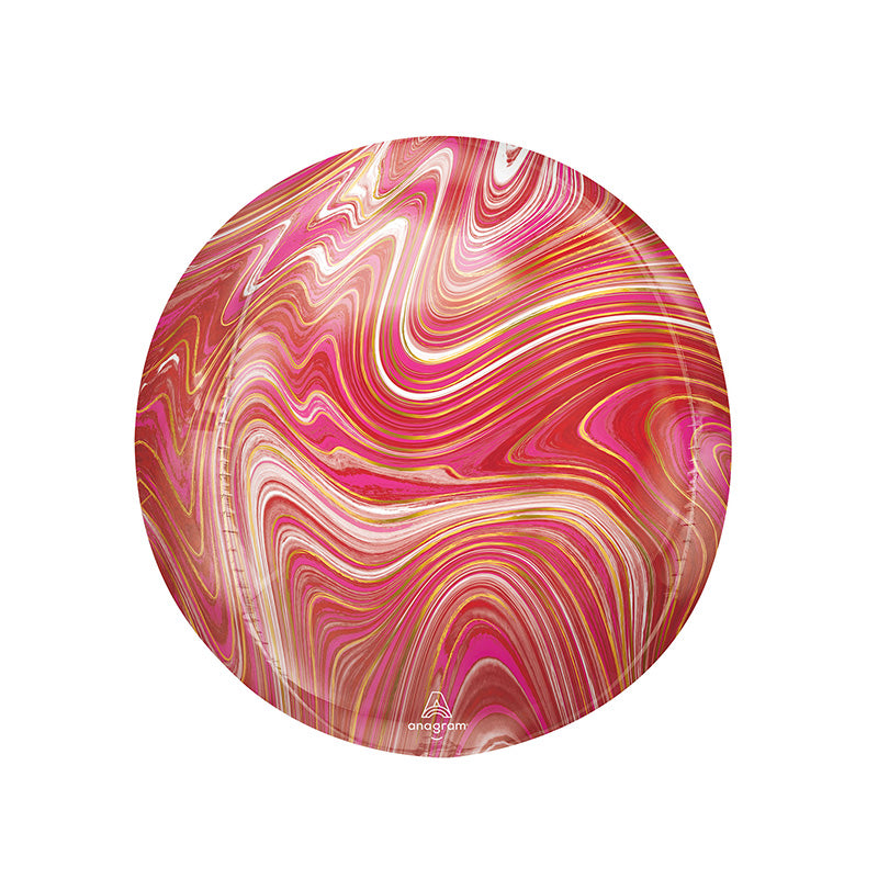 Red & Pink Marble Orbz Balloon