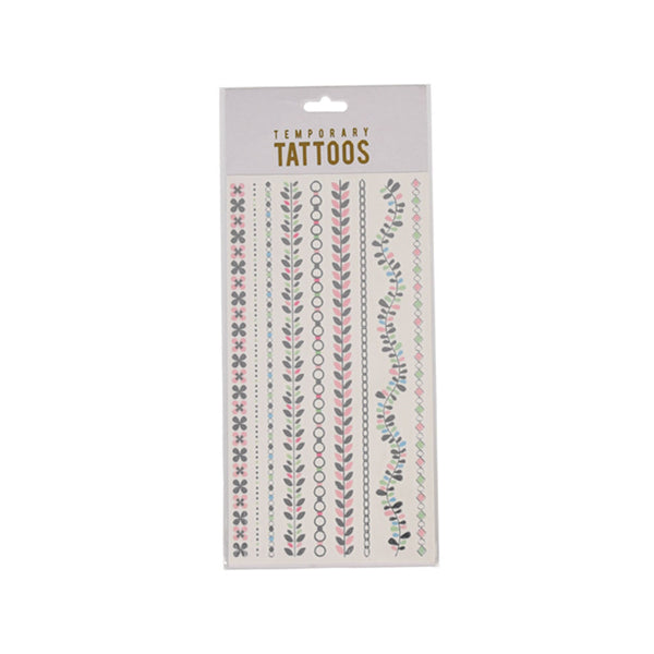 Silver Leaf Chain Temporary Tattoos  Temporary Tattoos Hello Party - All you need to make your party perfect!  - Hello Party