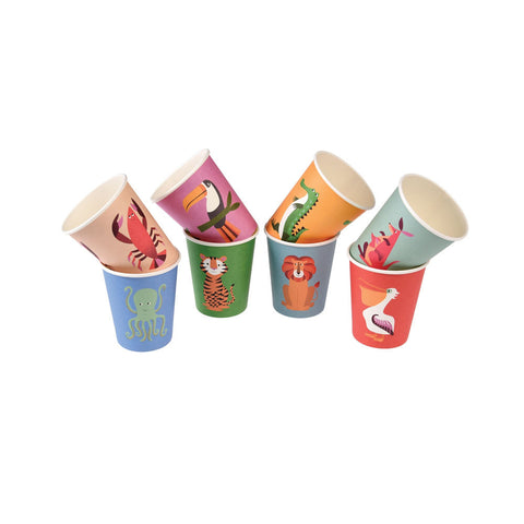 Colourful Creatures Paper Cups  Party Cups Rex International - Hello Party