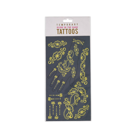Glow In The Dark Temporary Tattoos